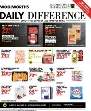woolworths specials daily difference 10 january 2020