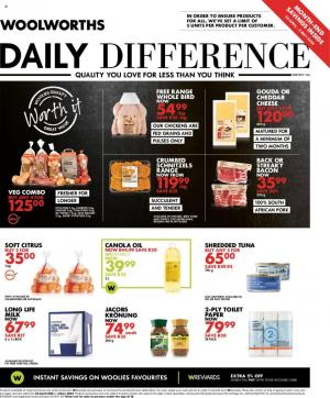 woolworths specials daily difference 20 april 2020