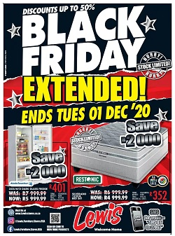 lewis catalogue black friday 30 november 2020