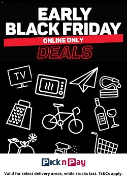 pick n pay specials early black friday deals 16 november 2020