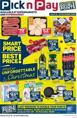 pick n pay specials smart price 16 november 2020
