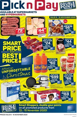 pick n pay specials smart price 9 november 2020
