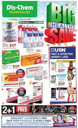 dischem specials big healthy save 15 january 2021
