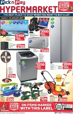 pick n pay specials 4 january 2021