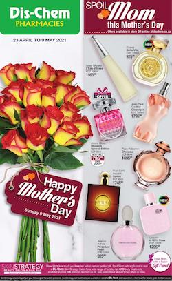 dischem specials mothers day 23 apr 9 may 2021