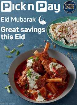 pick n pay specials eid sale 3 - 16 2021