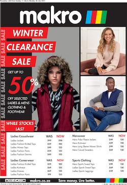 makro specials winter clearance clothing 11 19 july 2021