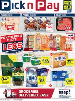 pick n pay specials 26 jul 1 aug 2021