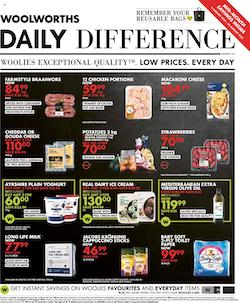 woolworths specials daily difference 9 22 august 2021