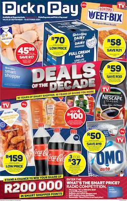 pick n pay specials 22 sep 10 oct 2021