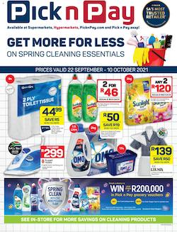 pick n pay specials spring clean 22 sep 10 oct 2021