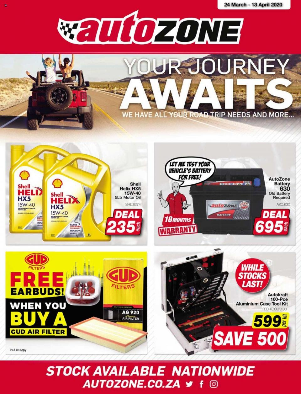 autozone specials national leaflet 24 march 2020