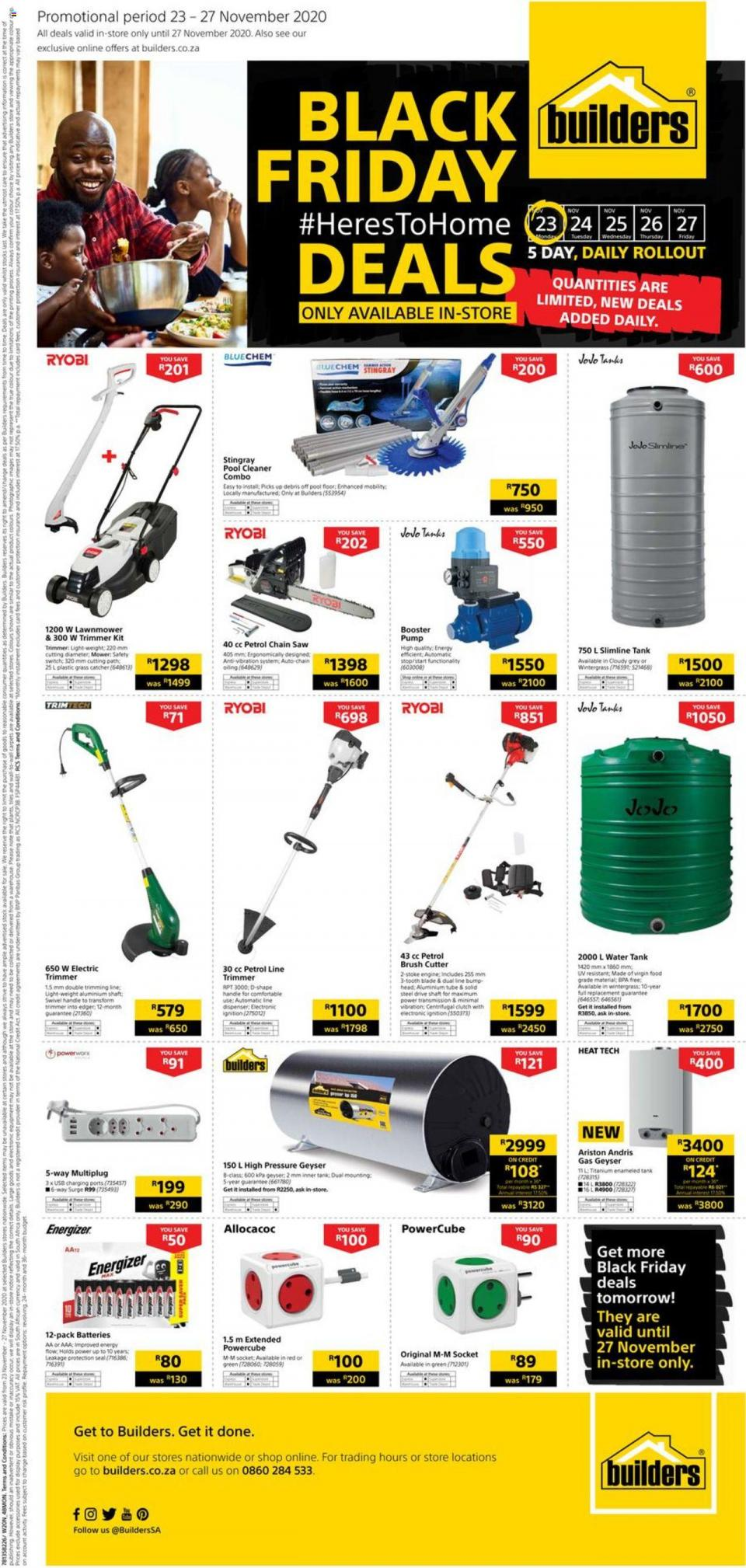 builders warehouse specials black friday 23 november 2020