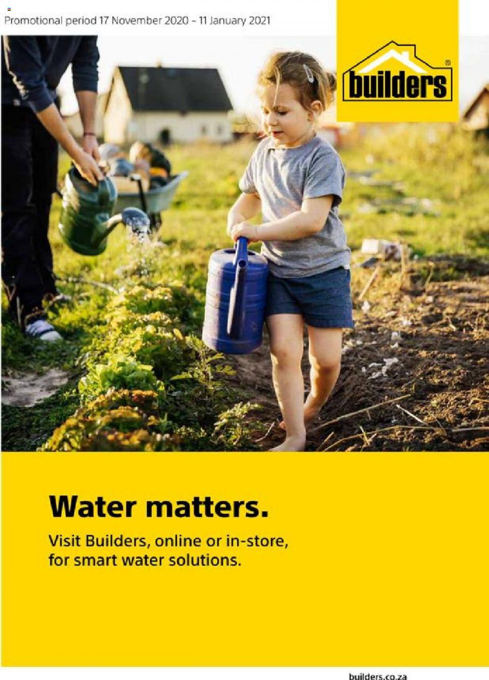 builders warehouse specials water matters 17 november 2020