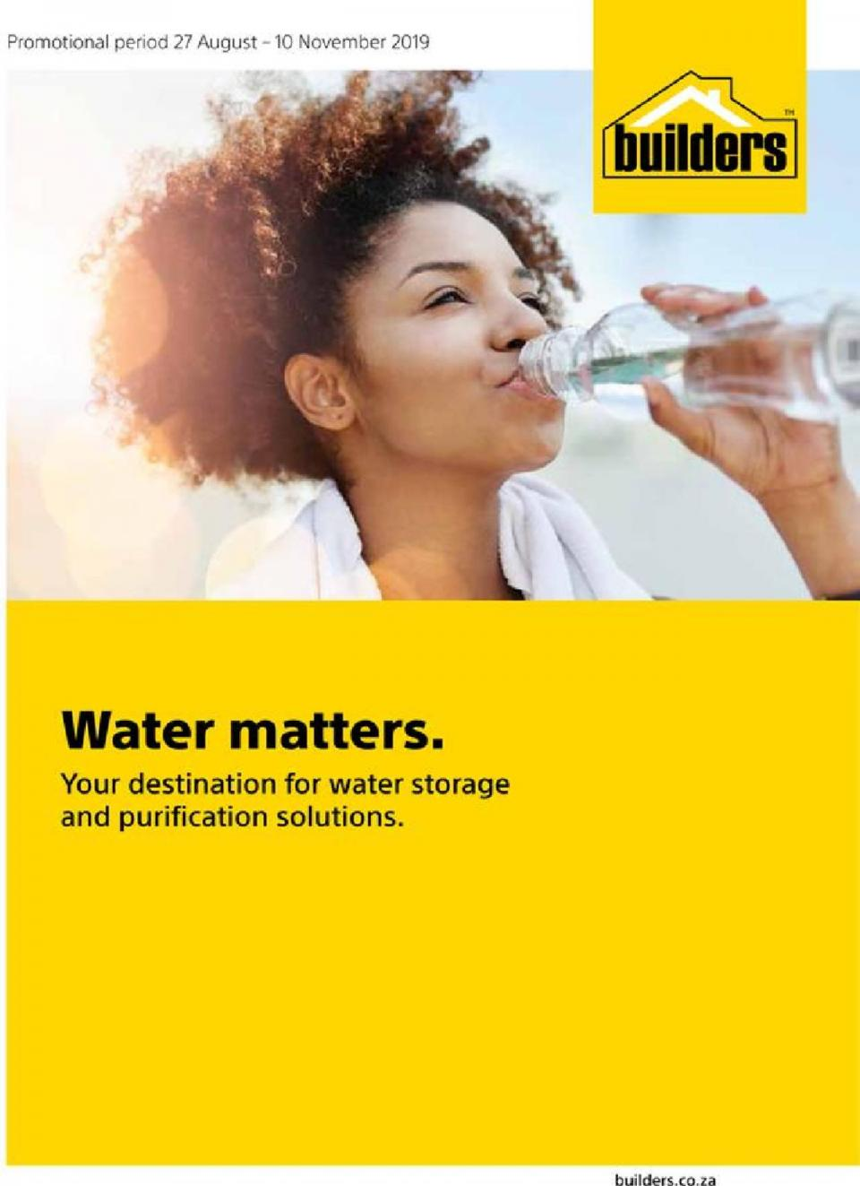builders warehouse water matters 27 august 2019