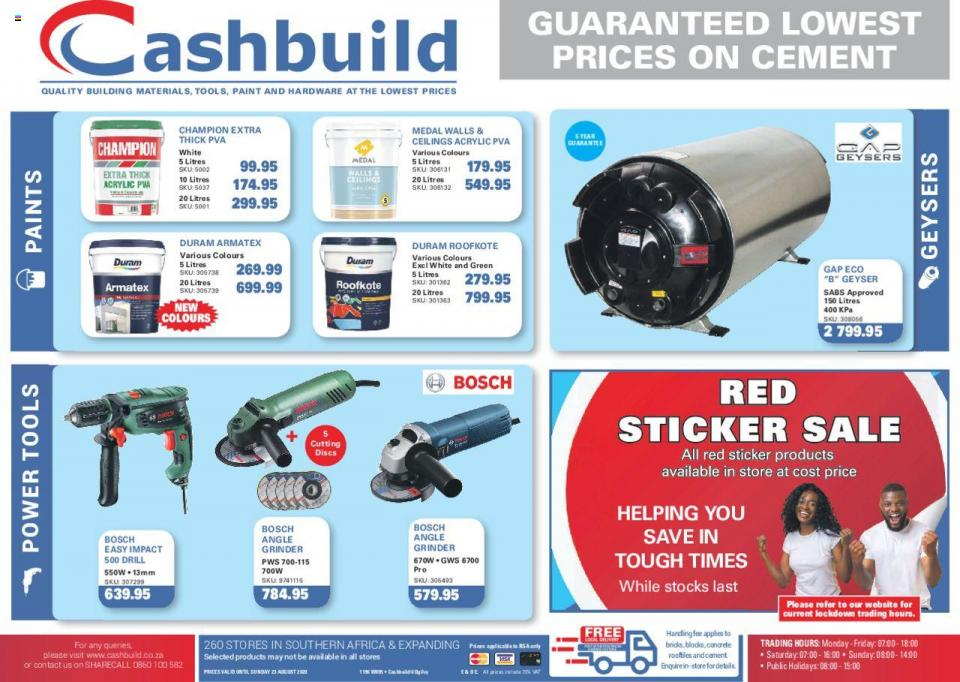 cashbuild catalogue 30 july 2020
