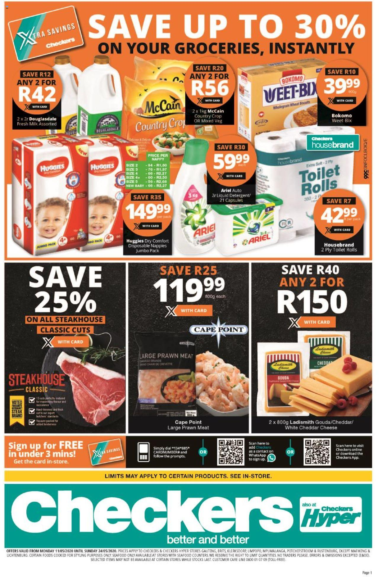 checkers specials 11 may 2020