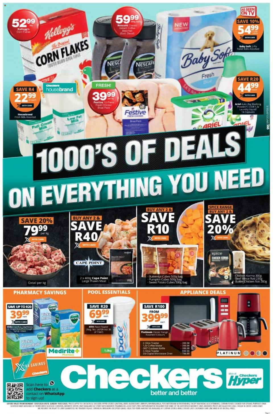 checkers specials 13 july 2020