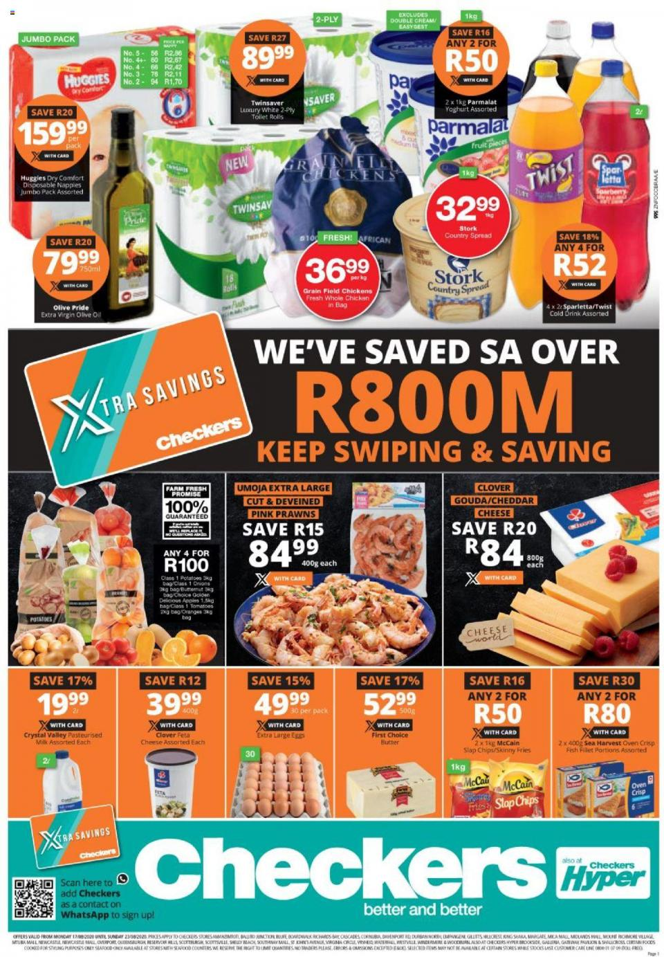checkers specials 17 august 2020