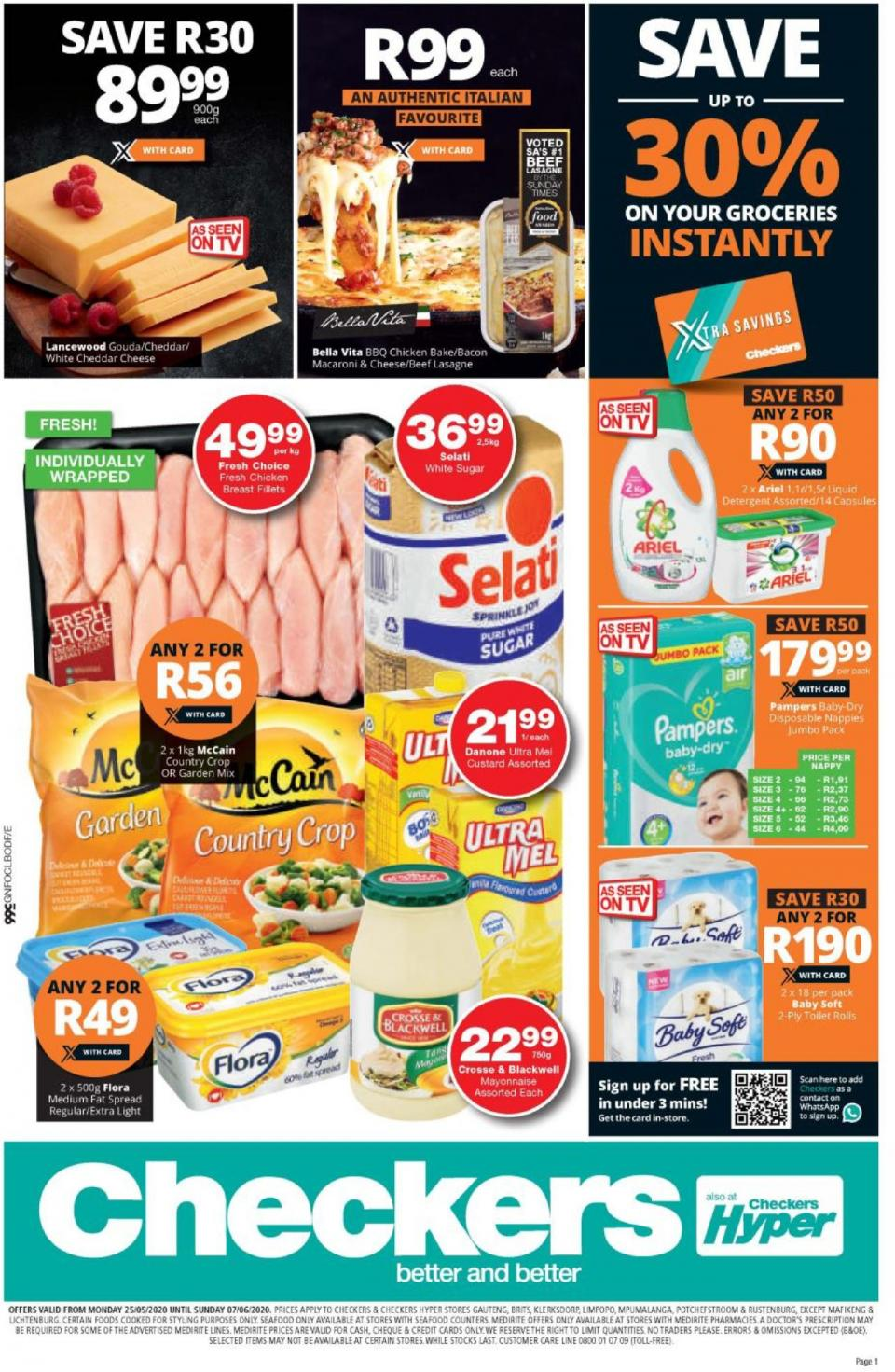 checkers specials 25 may 2020