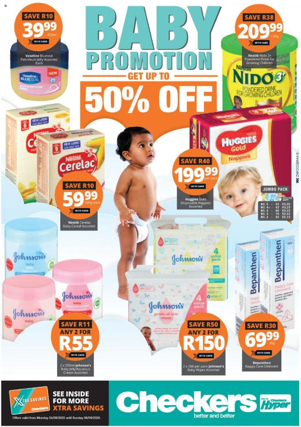 checkers specials baby promotion 24 august 2020