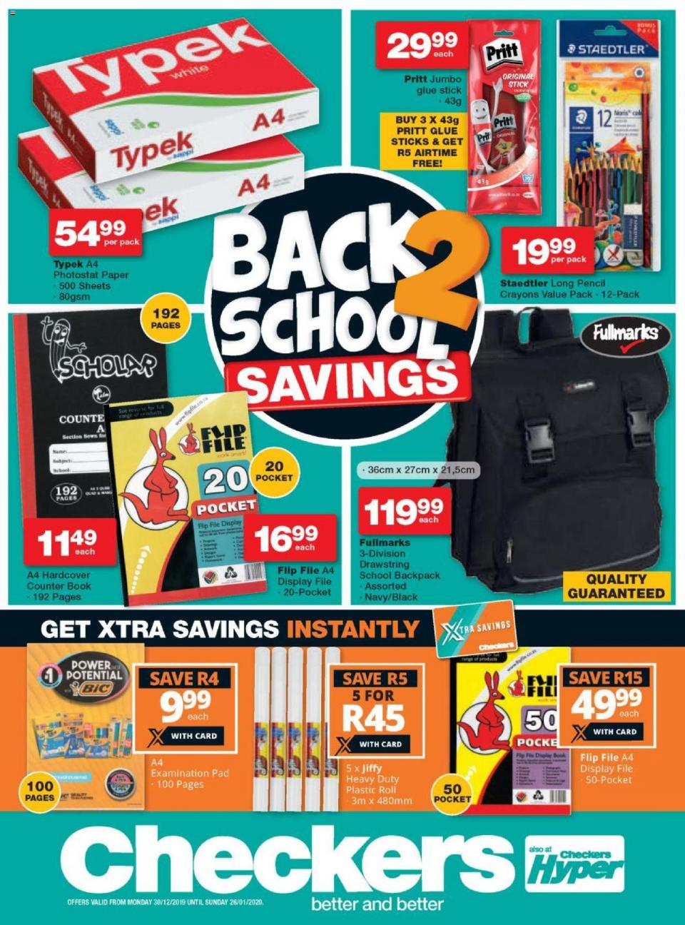 checkers specials back to school promotion 30 december 2019