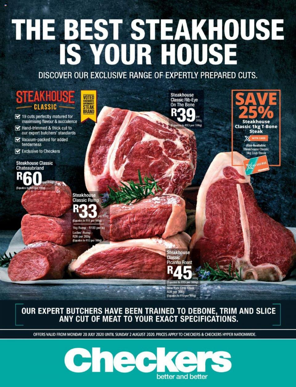 checkers specials butchery promotion 20 july 2020
