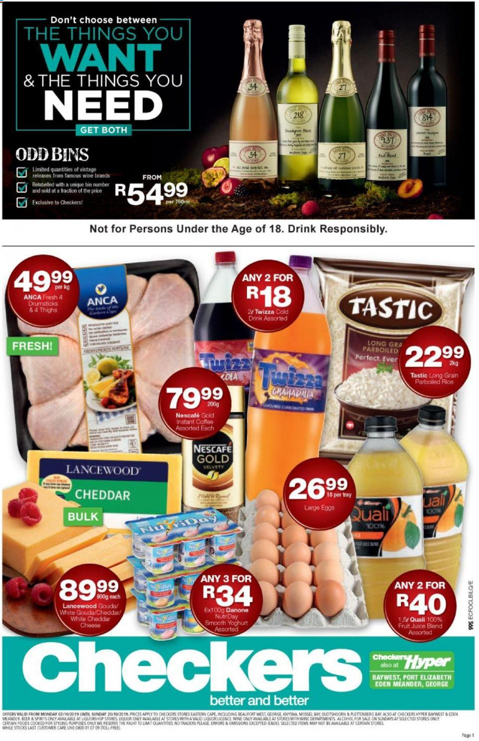 checkers specials eastern cape 09 october 2019