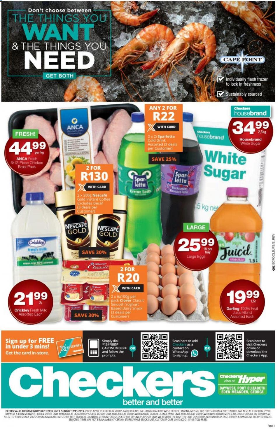 checkers specials eastern cape grocery 04 november 2019
