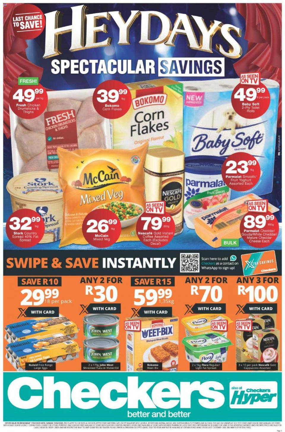 checkers specials heydays spectacular savings 17 february 2020