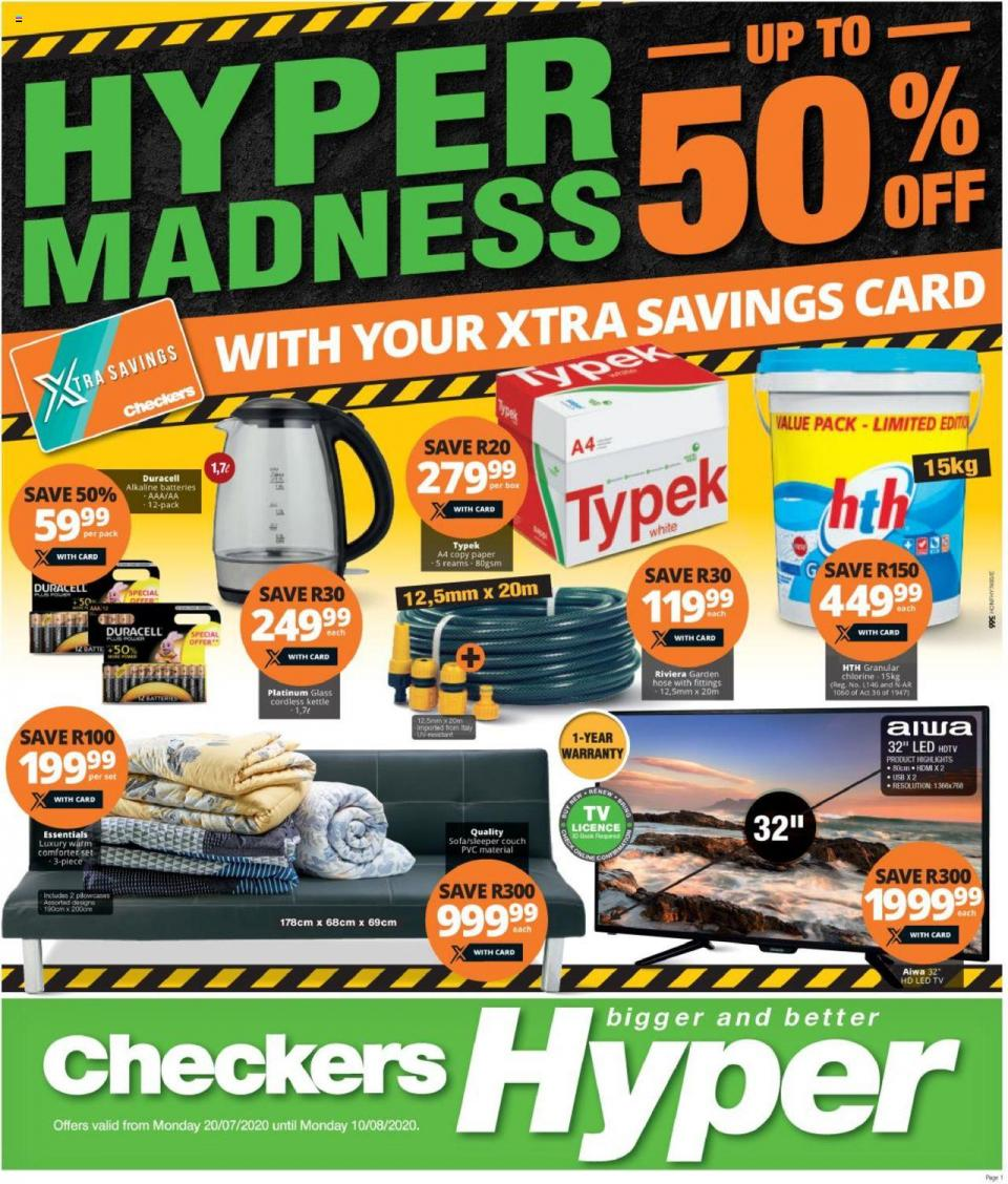 checkers specials hyper madness 50% off 20 july 2020