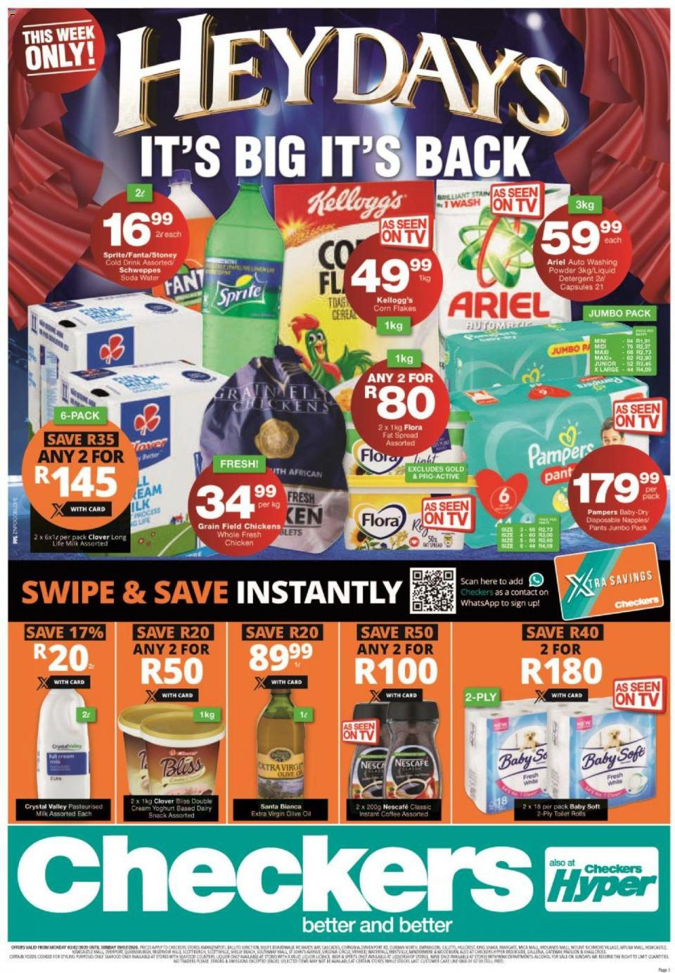 checkers specials l heydays promotion 3 february 2020