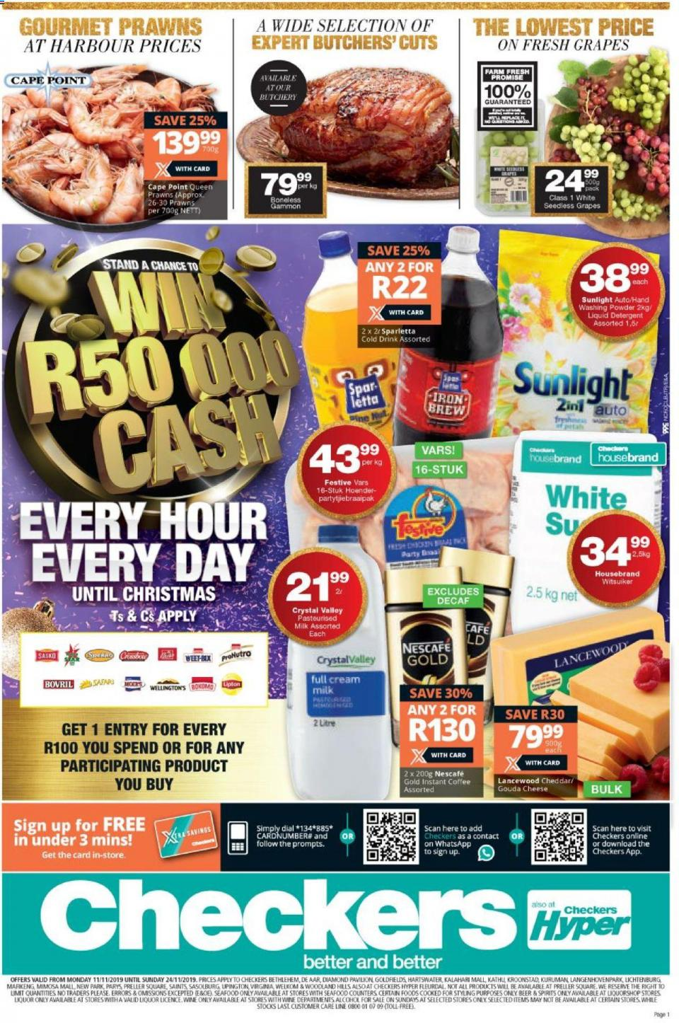checkers specials northern cape 11 november 2019