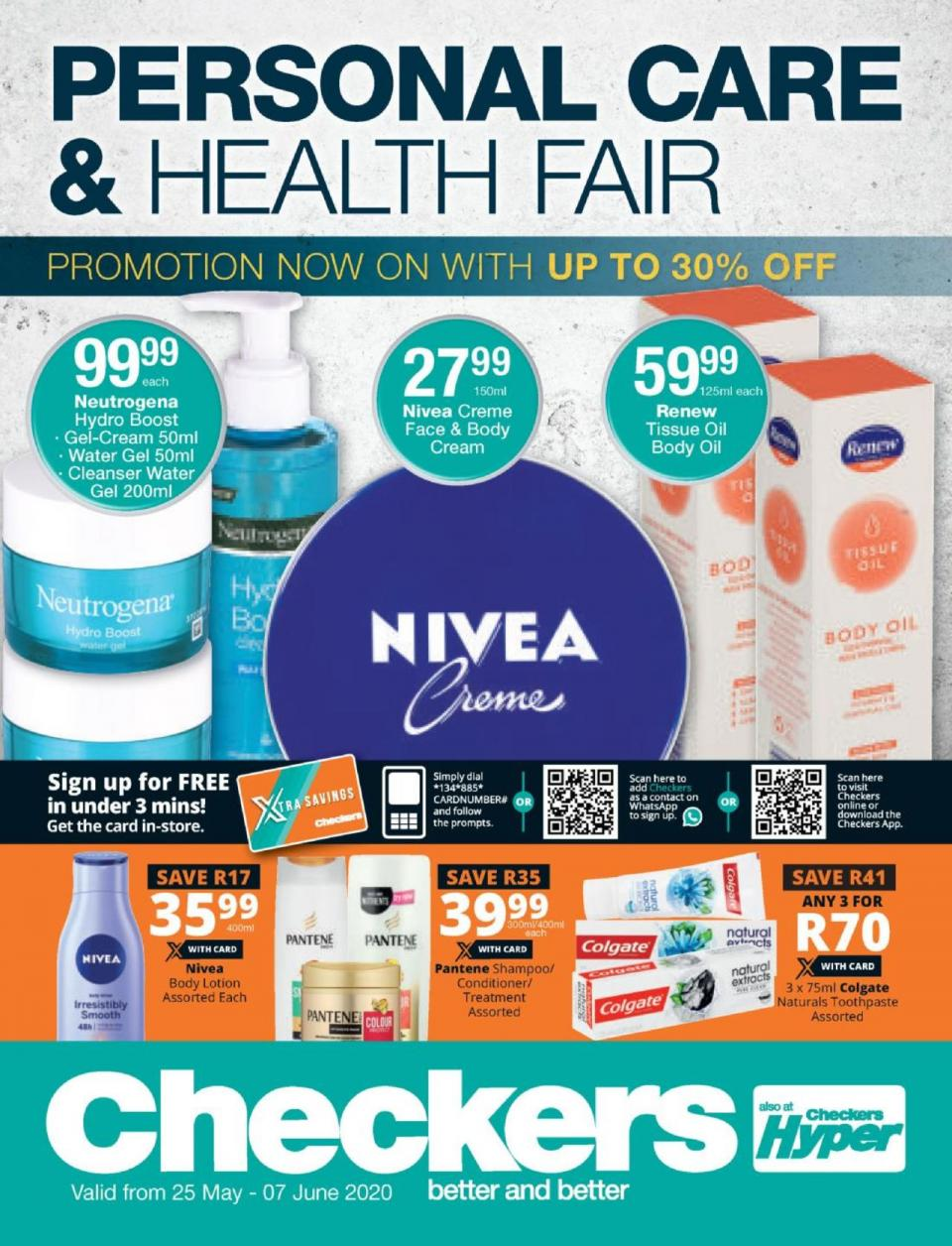 checkers specials personal care 25 may 2020
