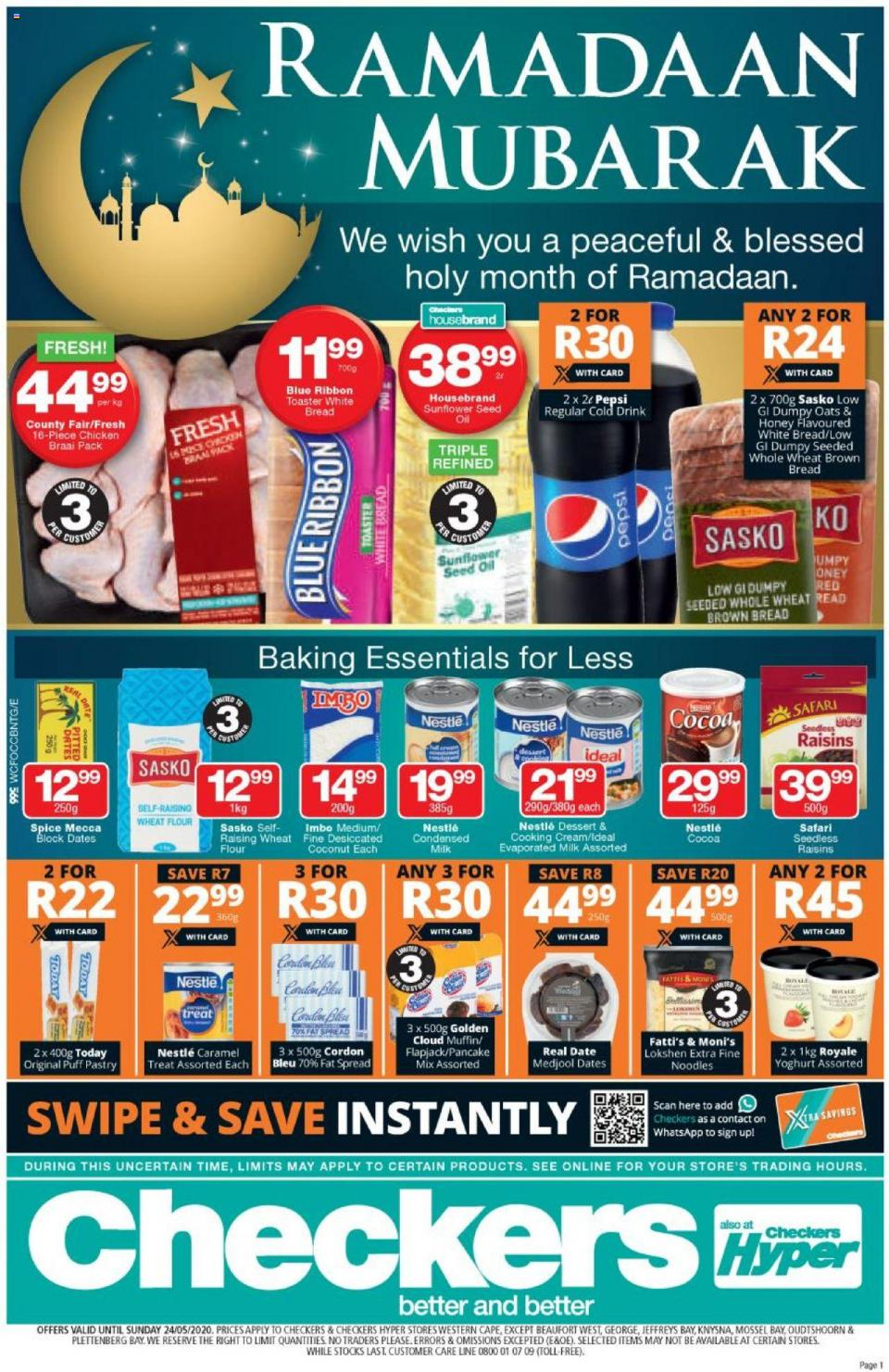 checkers specials ramadaan mubarak 14 may 2020 western cape