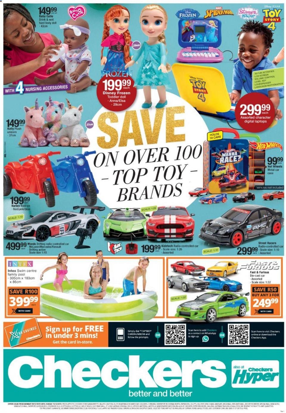 checkers specials toy catalogue 09 december 2019