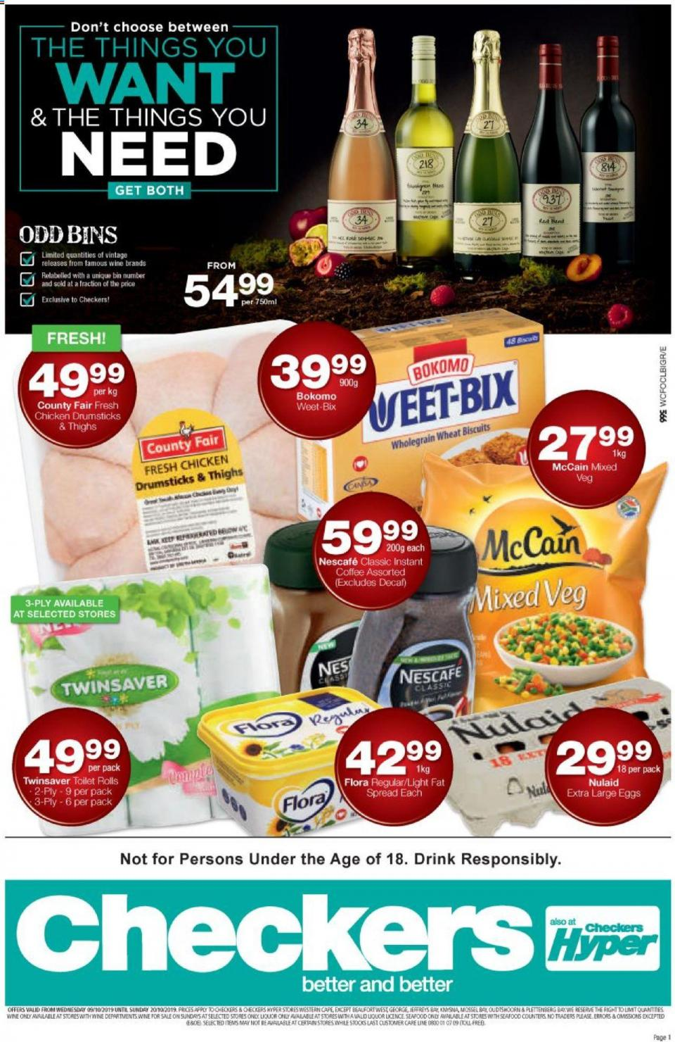 checkers specials western cape 09 october 2019