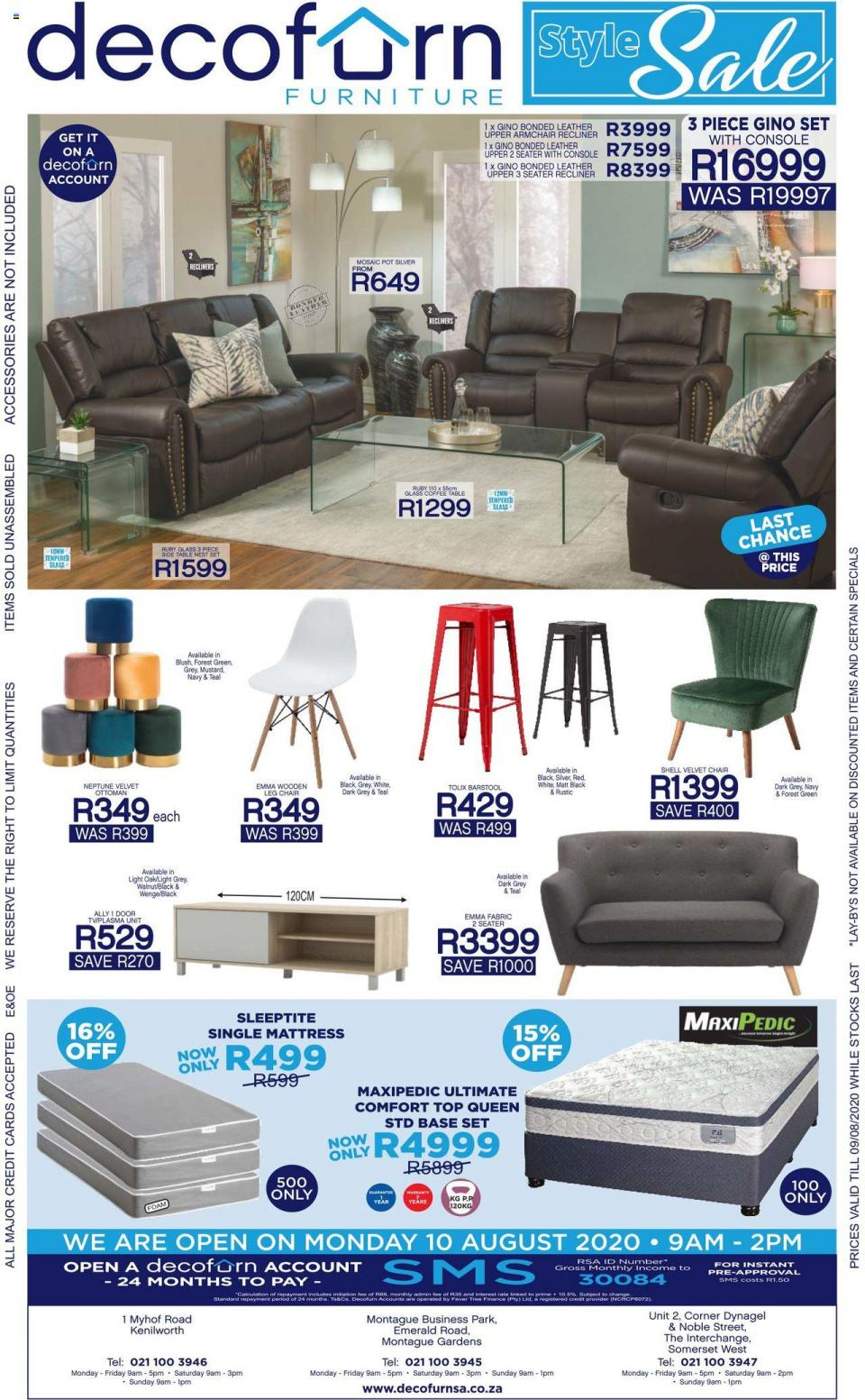 decofurn specials 29 july 2020