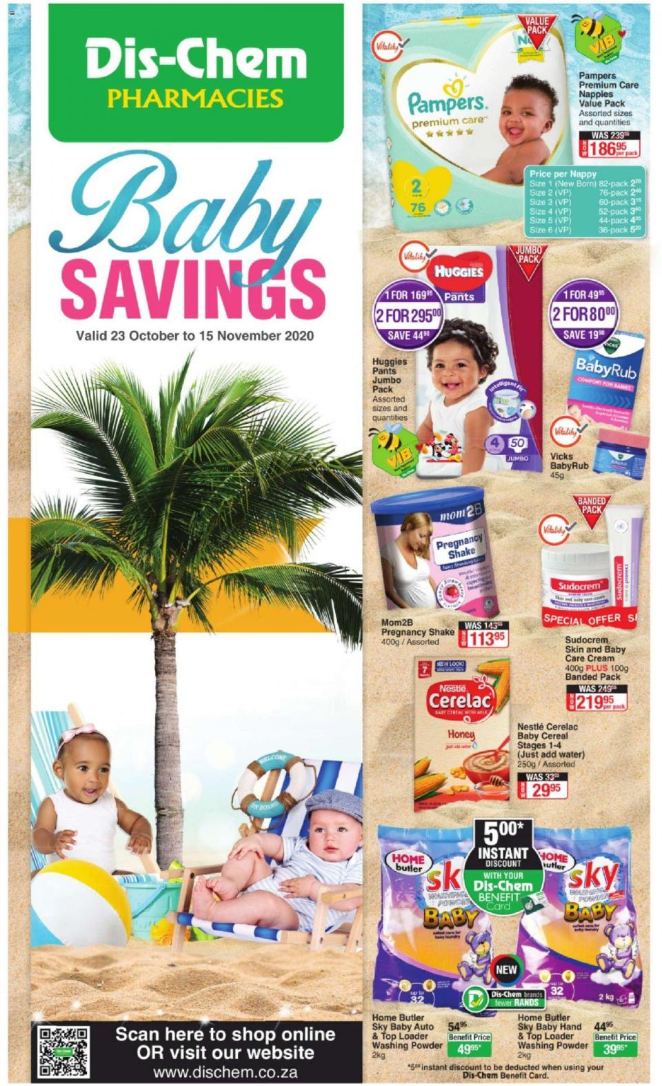 dischem specials baby savings 23 october 2020