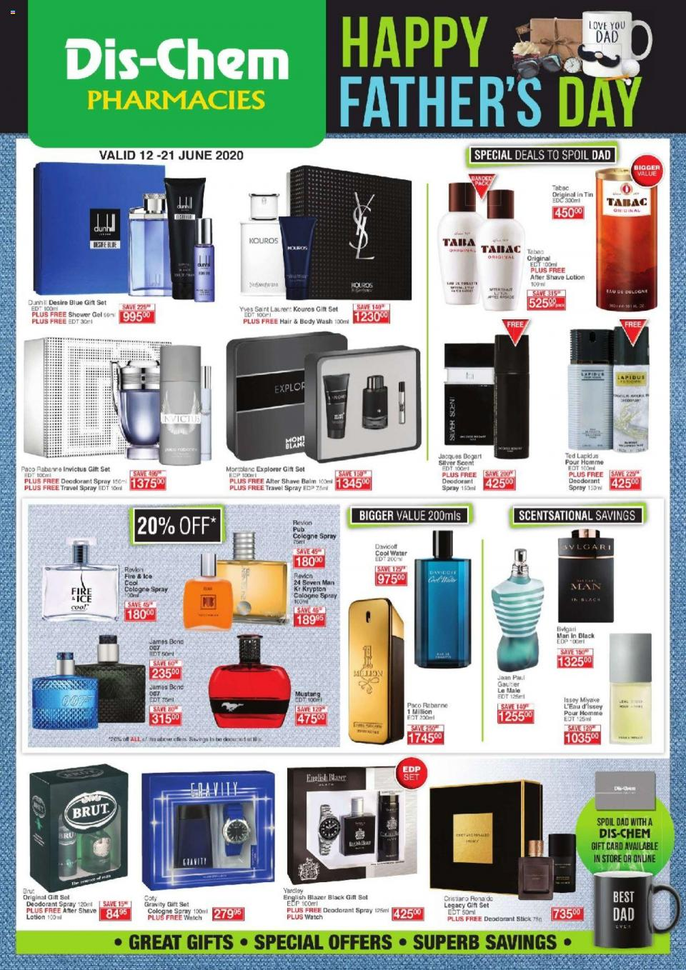 dischem specials fathers day 12 june 2020