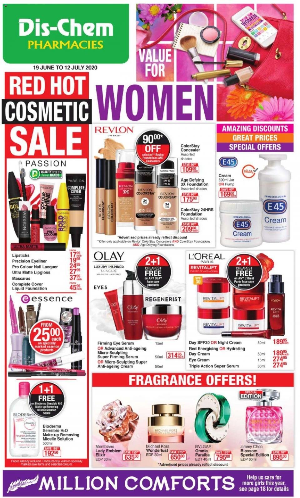 dischem specials value for women 19 june 2020