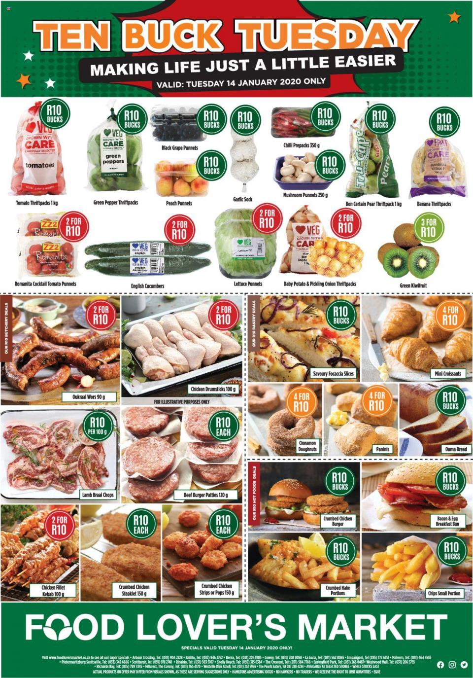 food lovers specials one day only 14 january 2020