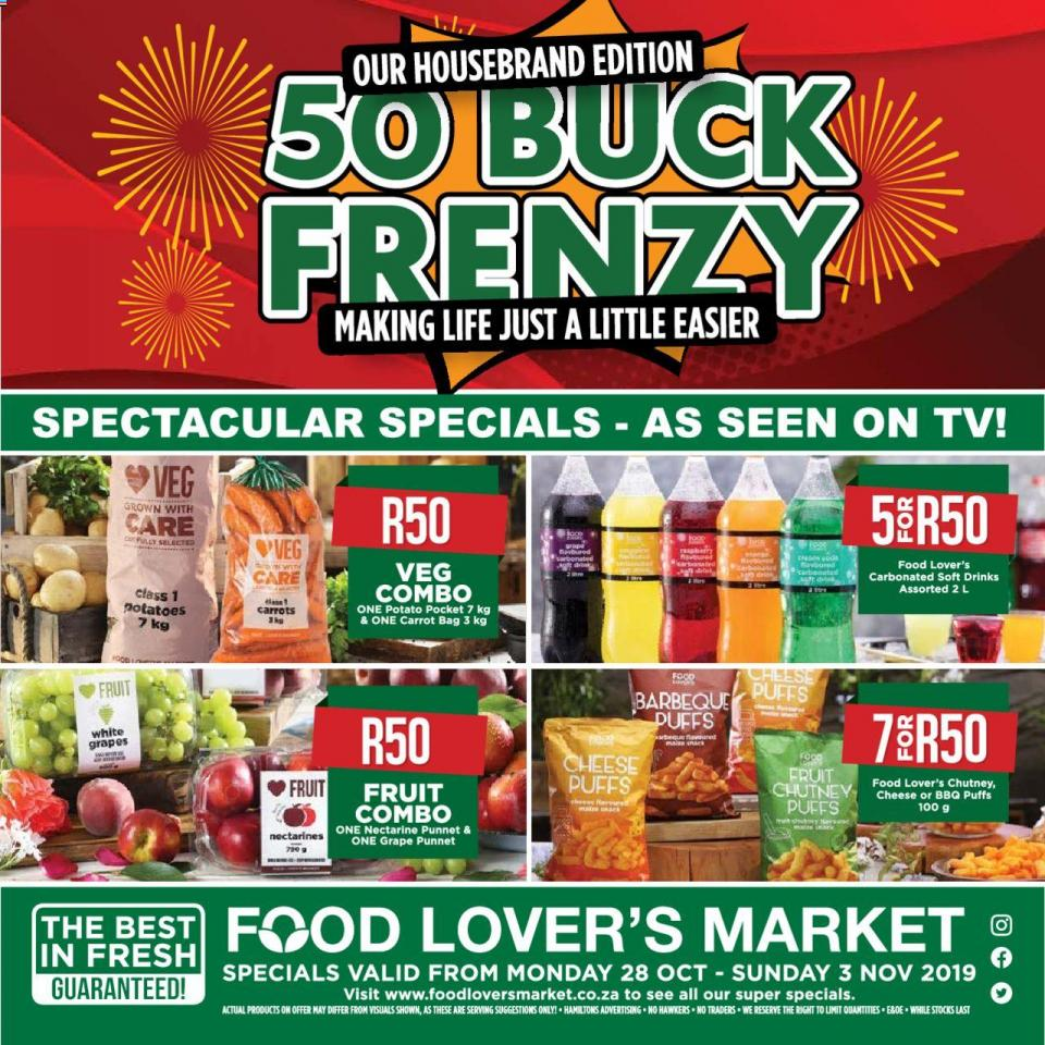 food lovers specials weekly 28 october 2019