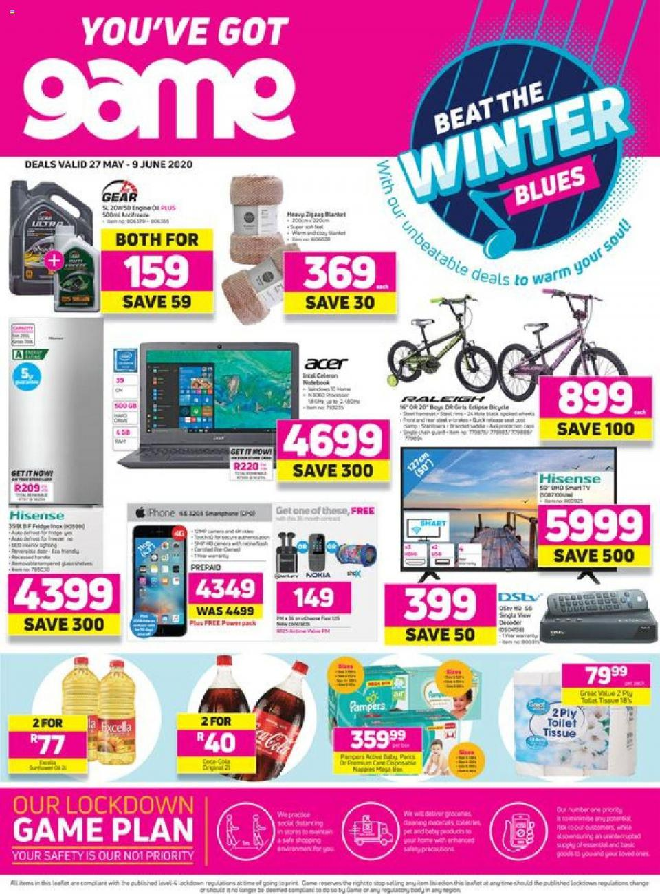 game specials beat the winter blues 27 may 2020