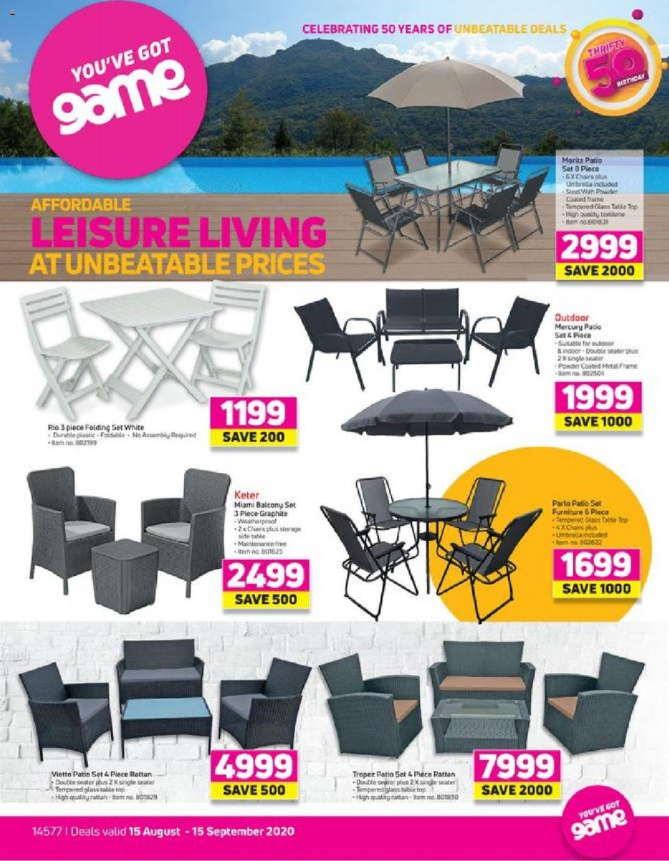 game specials leisure living 15 august 2020