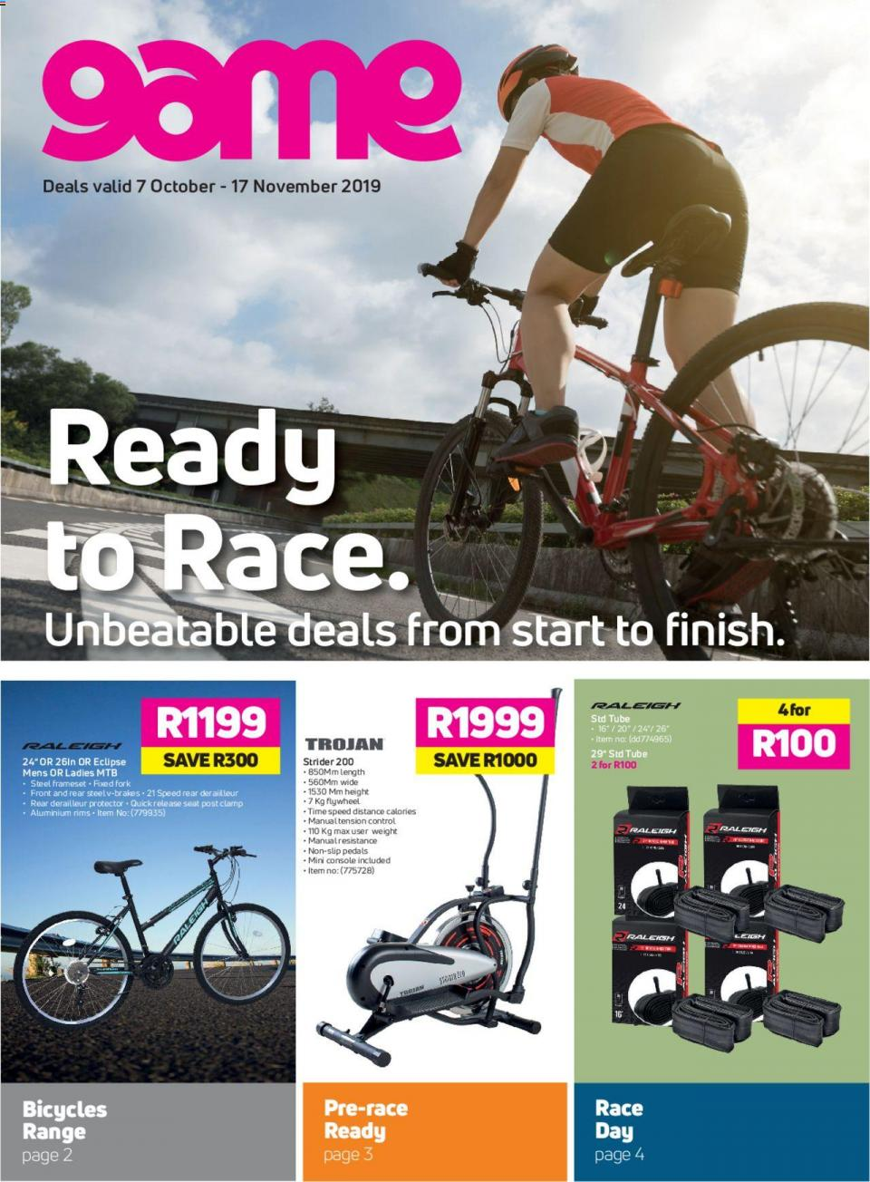 game specials race and ride 07 october 2019