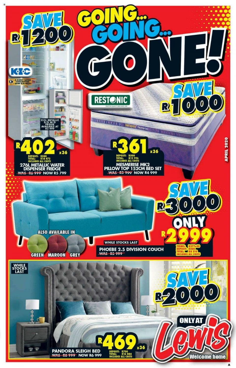 lewis catalogue new specials 01 april 2020