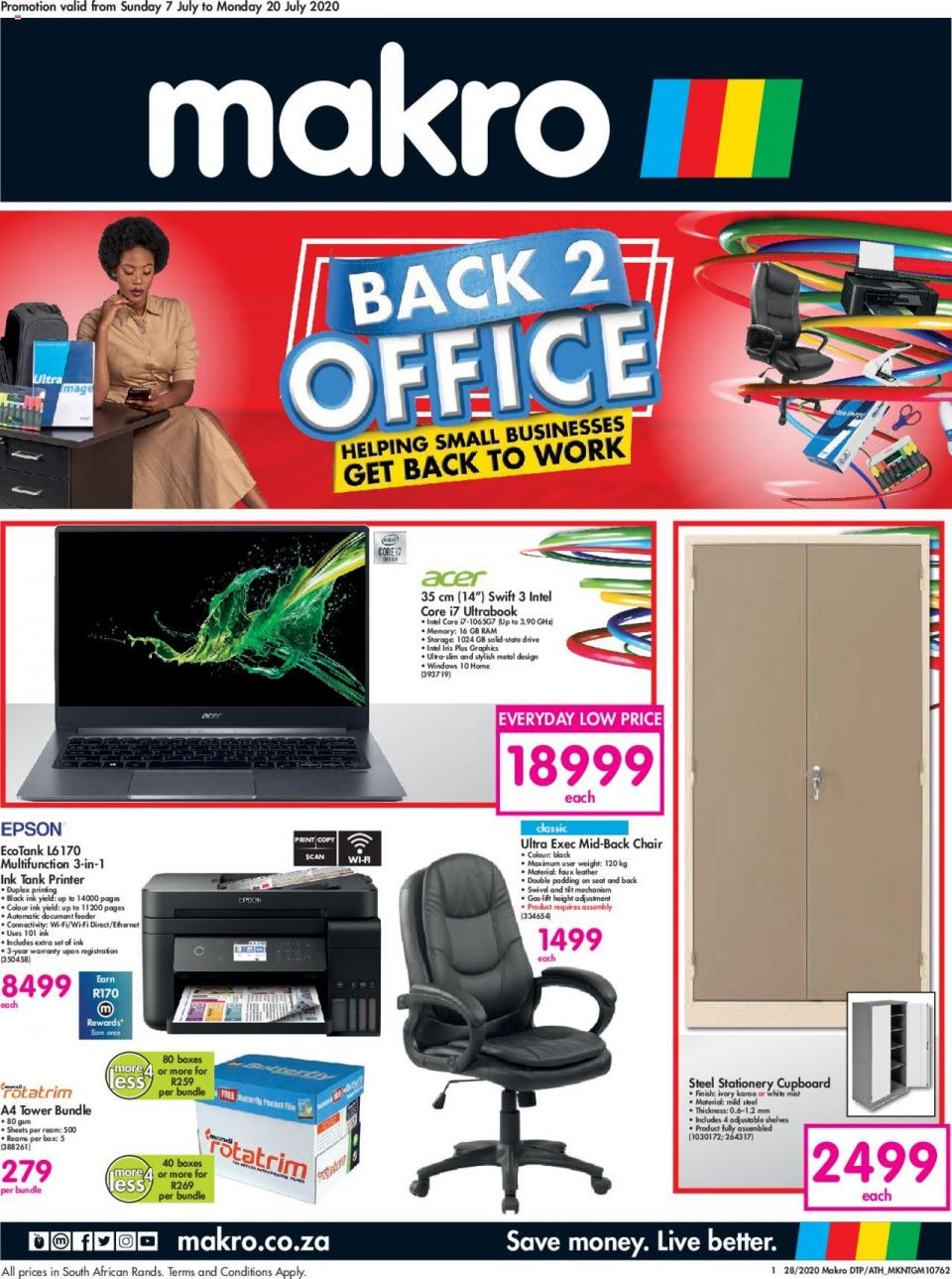 makro specials office catalogue 7 july 2020