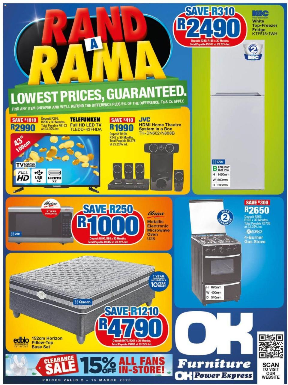 ok furniture specials rand a rama catalogue 2 march 2020