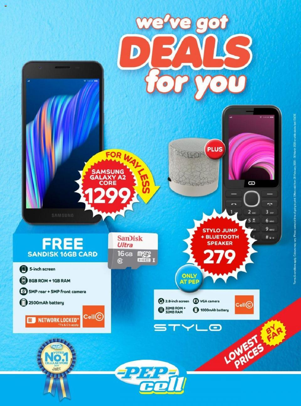 pep catalogue cell specials 28 february 2020